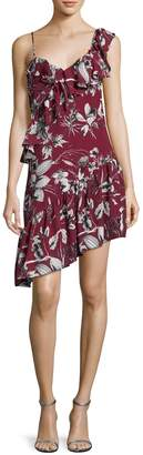 Parker Women's Ruffle Shoulder Printed Dress