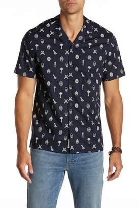Lucky Brand Short Sleeve Print Regular Fit Shirt