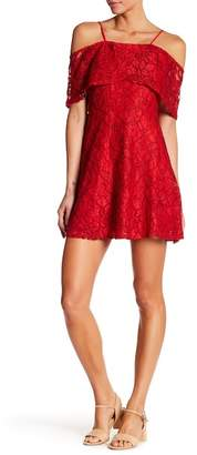 Dee Elly Cold Shoulder Lace Dress