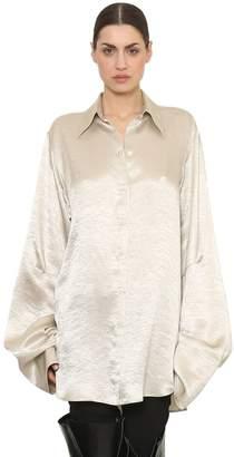 Ann Demeulemeester オーバーサイズ サテンシャツ