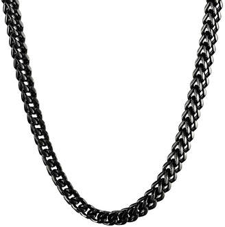 JCPenney FINE JEWELRY Mens Stainless Steel & Black IP Foxtail Chain