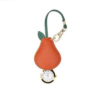 ハングウォッチ 洋ナシ 柄の アクセサリー 時計 レディース オレンジ