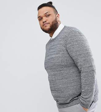 Asos PLUS Cotton Sweater In Black And White Twist