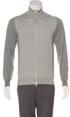 Maison Margiela Mock Neck Zip Sweater