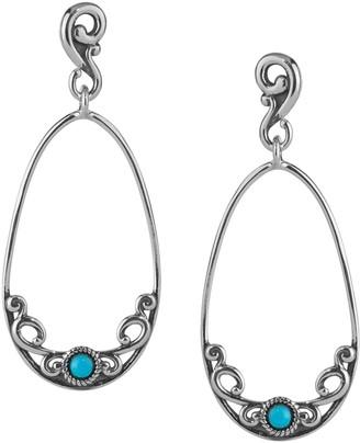 Carolyn Pollack Sleeping Beauty Turquoise Dangle Earrings