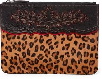 Ralph Lauren Leopard Haircalf Pouch