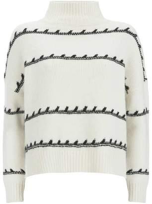 Mint Velvet Cream Crafty Stitch Knit