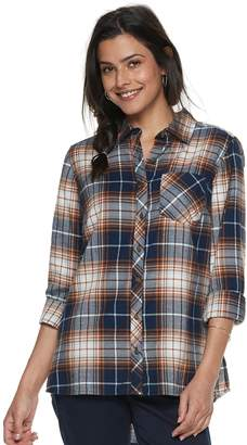 Sonoma Goods For Life Petite SONOMA Goods for Life Essential Supersoft Flannel Shirt