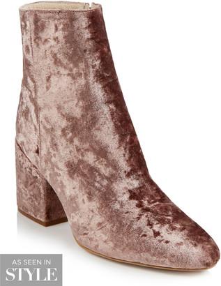 Long Tall Sally LTS Laura Velvet Ankle Boot