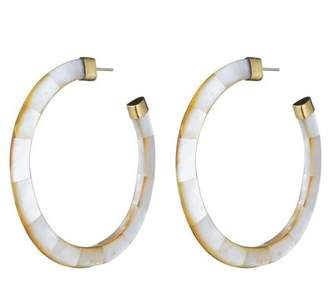 Josie Natori Mother of Pearl Hoop Earrings