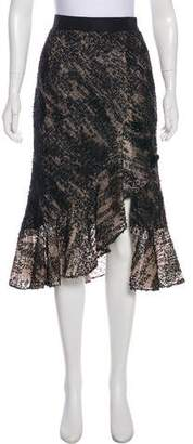 Prabal Gurung Textured Midi Skirt