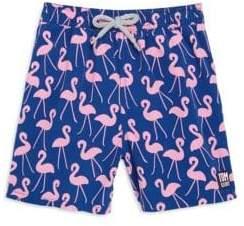 Flamingos Tom & Teddy Toddler's, Little Boy's& Boy's Swim Trunks
