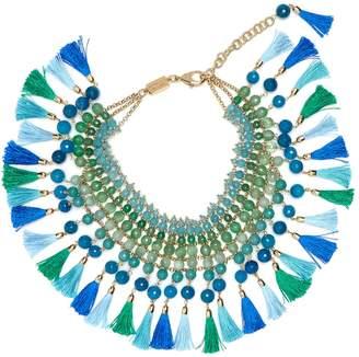 Rosantica BY MICHELA PANERO Geranio multi-stone and tassel necklace