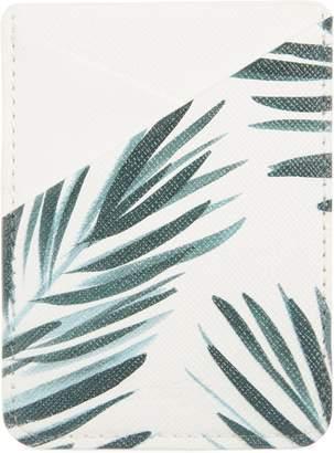 CASETIFY Palm Leaf Adhesive Card Pocket