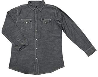 Lee Men's Long Sleeve Denim Button Down Shirt