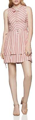 BCBGeneration Tiered Lace-Up Shirt Dress