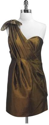 Ali Ro Metallic Olive One Shoulder Dress $43.79 thestylecure.com