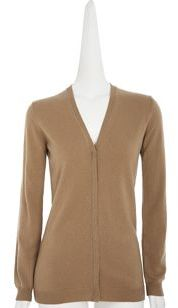Barneys New York Cashmere Cardigan- Camel