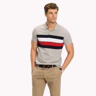 Tommy Hilfiger Chest Stripe Slim Fit Polo