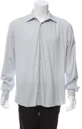 Prada Striped Button-Up Shirt