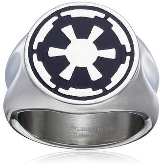 Star Wars Jewelry Men's Imperial Symbol Stainless Steel Ring, Size 13