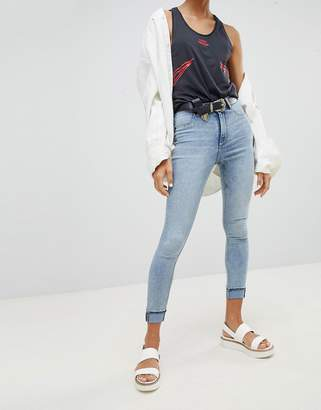 Cheap Monday High Waisted Bleached Out Super Skinny Jean
