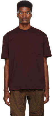Lanvin Burgundy Mock Neck T-Shirt