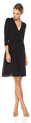 Three Dots Women's Refined Jersey Draped mid Loose Skirt