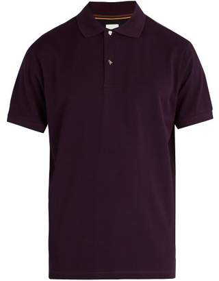 Paul Smith - Charm Button Cotton Piqué Polo Shirt - Mens - Burgundy