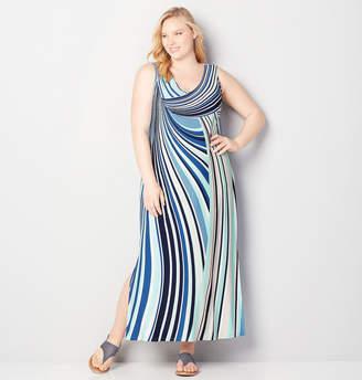 Avenue Swirling Lines Maxi Dress