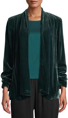Eileen Fisher Velvet Open-Front Jacket