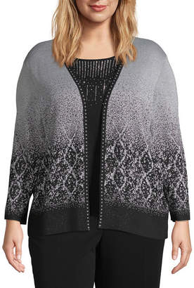 Alfred Dunner Sparkly Ombre Layered Sweater - Plus