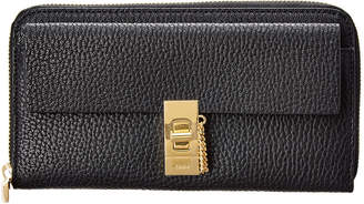 Chloé Drew Leather Zip Around Wallet