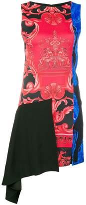 Versace sleeveless baroque print dress