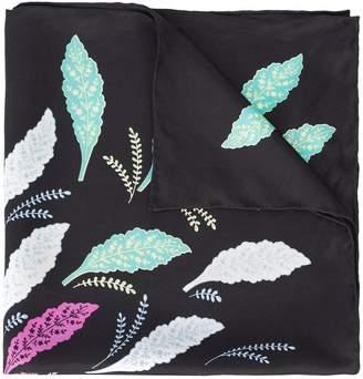 Diane von Furstenberg leaf print scarf