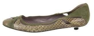 Anya Hindmarch Python Round-Toe Flats