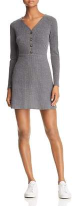 Sadie & Sage Button-Detail Knit Mini Dress
