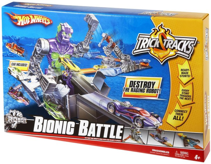 Hot Wheels Trick Tracks Bionic Battle Sets