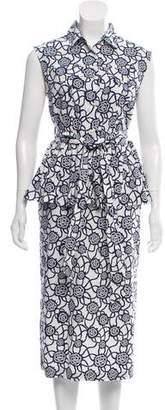 Dries Van Noten Sleeveless Floral Print Dress