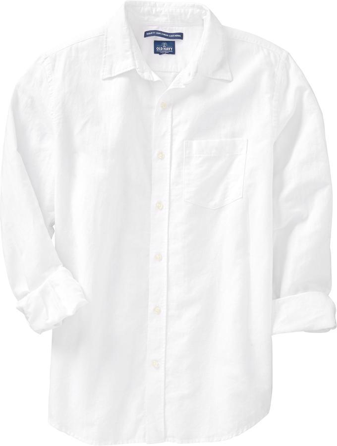 Old Navy Men's Regular-Fit Linen-Blend Shirts
