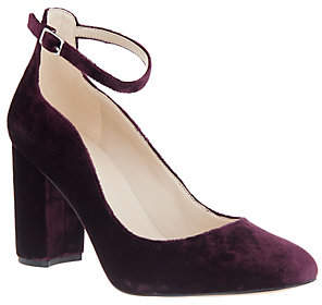 Marc Fisher Block Heel Pumps with Ankle Strap -Imagie2