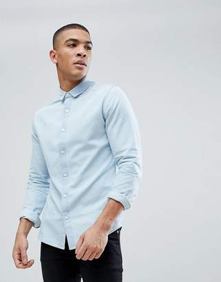 ONLY & SONS Slim Fit Light Denim Shirt