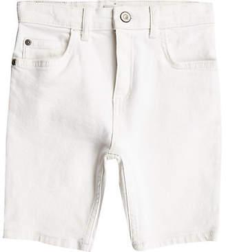 River Island Boys white Sid skinny denim shorts