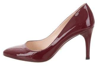 Prada Pointed-Toe Mid-Heel Pumps