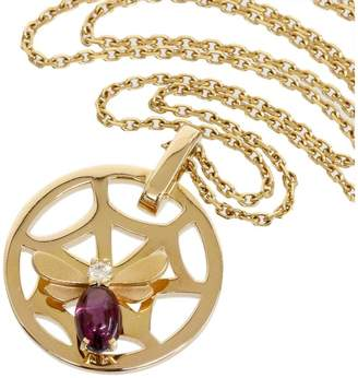 Chaumet 18K Pink Gold With Amethyst & Diamond Bee Necklace