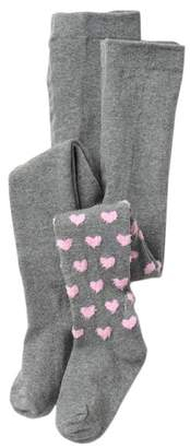 Limited Too Heart Feather & Heather Grey Tights (Little Girls)