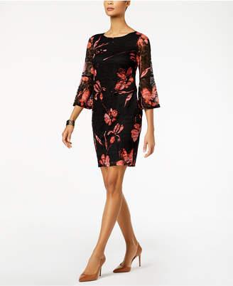Alfani Lace Floral-Print Dress