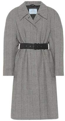 Prada Belted wool-blend coat