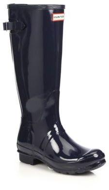 Hunter Original Back-Adjustable Gloss Rain Boots $160 thestylecure.com
