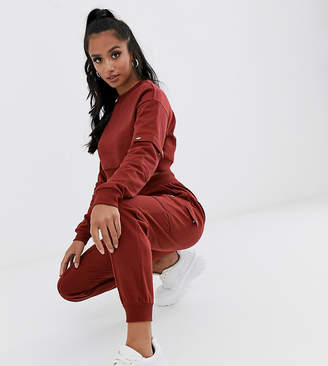 Asos DESIGN Petite tracksuit cropped sweat / jogger with utility details